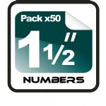 "1.5"" Race Numbers - 50 pack"